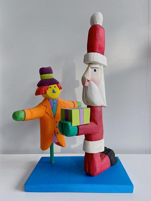 Santa + Scarecrow | Pufferbellies