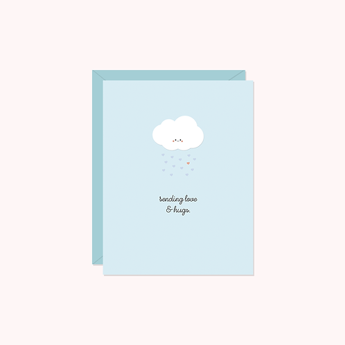 Sending Love & Hugs Card | Halifax Paper Hearts