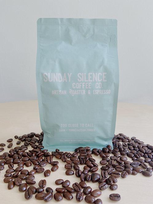 Too Close to Call- Dark Roast Coffee | Sunday Silence Coffee Co.