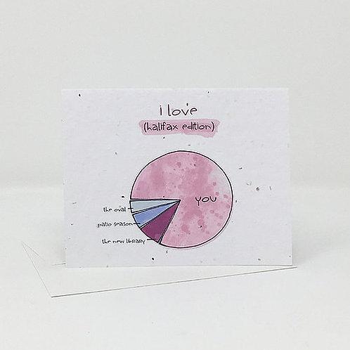 I Love Halifax- Wildflower Seed Card | Jill + Jack Paper