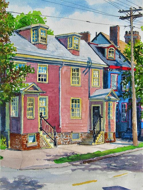 Morning on Morris Street- Original Painting   Pat Shattuck