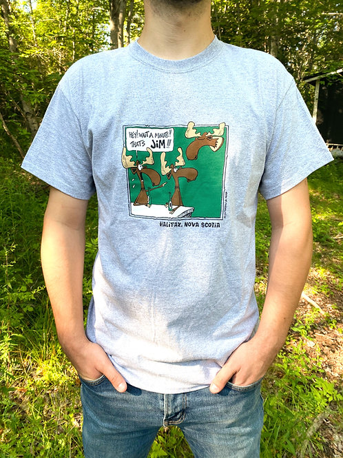 Jim the Moose Grey T-Shirt   Tall Ships Trading Co.