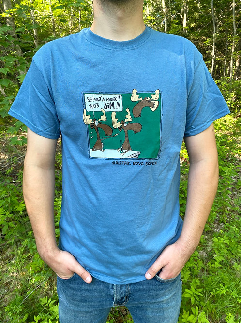 Jim the Moose BlueT-Shirt  Tall Ships Trading Co.