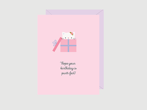 Purr-fect Birthday Card | Halifax Paper Hearts