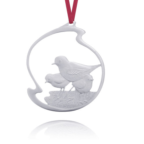 Plovers 1999 Collector Ornament | Amos Pewter