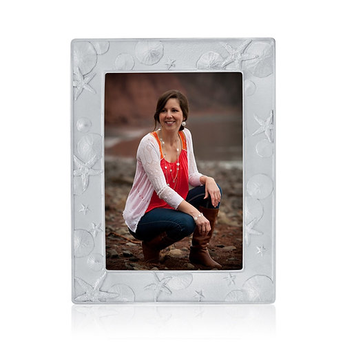 Beach Treasure Picture Frame | Amos Pewter