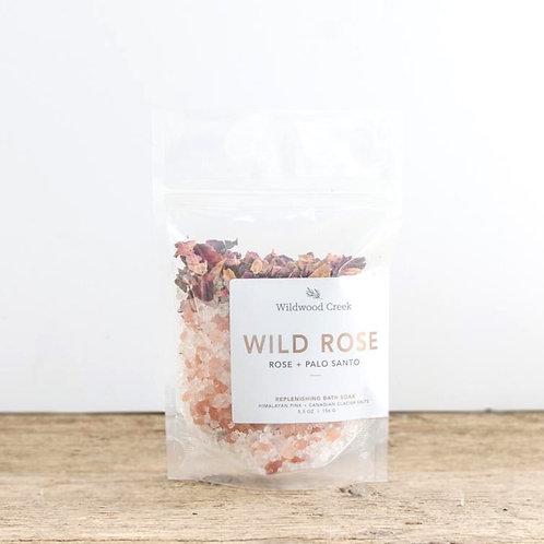 Wild Rose Botanical Bath Salt Soak | 5.5oz | Wildwood Creek