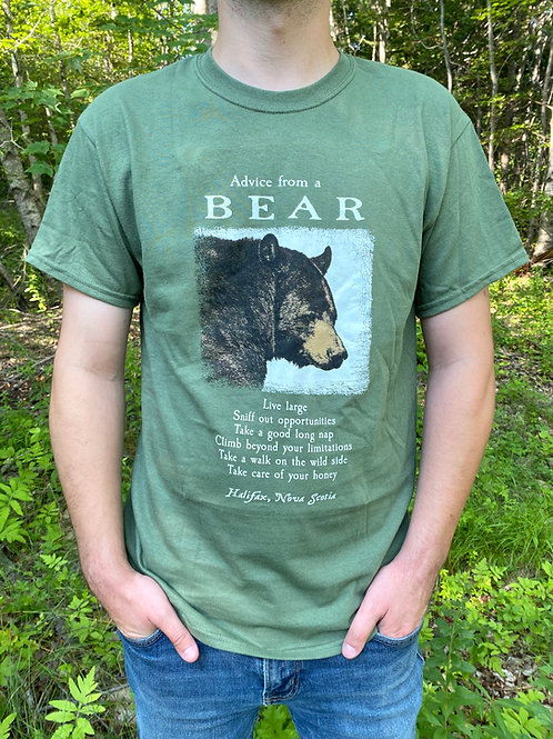 Advice From a Bear Green T-Shirt | Tall Ships Trading Co.