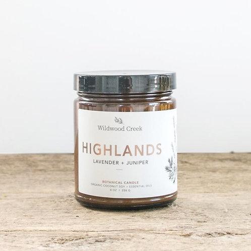 Highlands Candle | 8oz | Wildwood Creek