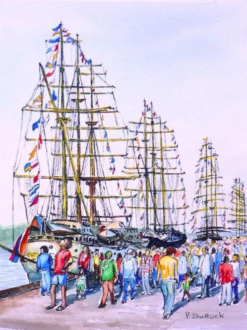 Tall Ships in Halifax- Original Painting   Pat Shattuck
