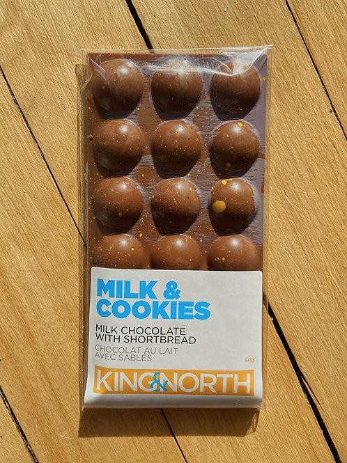 Milk & Cookies Chocolate Bar | King & North Chocolate