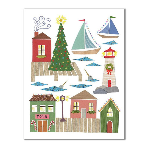 Seaside Christmas Card | Cards by Kate