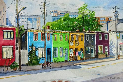 Colourful Queen Street - Original Painting | Pat Shattuck