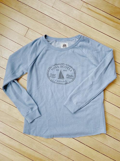 Ladies Nova Scotia Blue Sweatshirt | Tall Ships Trading Co.