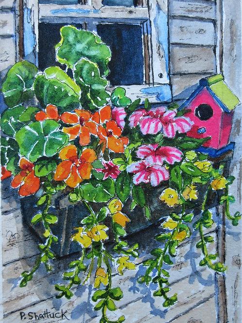 Garden Shed- Original Painting   Pat Shattuck