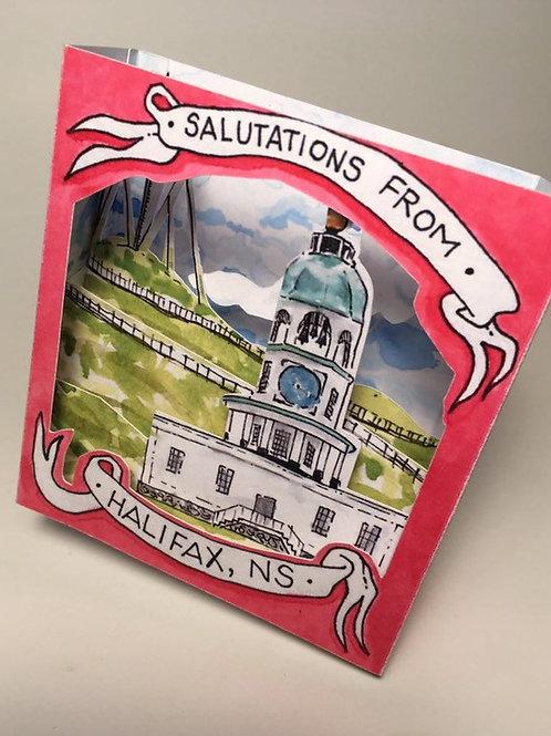 Halifax Town Clock Pop-Up Card | BardBardBard