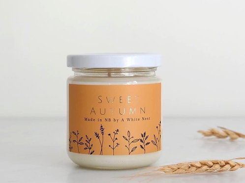 Sweet Autumn Candle   A White Nest