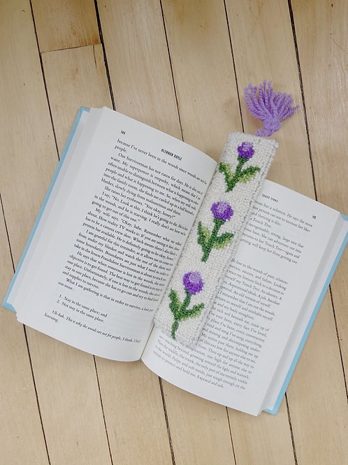 Thistle Bookmark | Cheticamp Rug Hooking