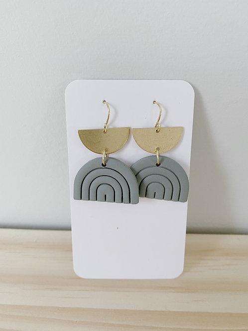 Sage Rainbow Earrings | Something Handmade
