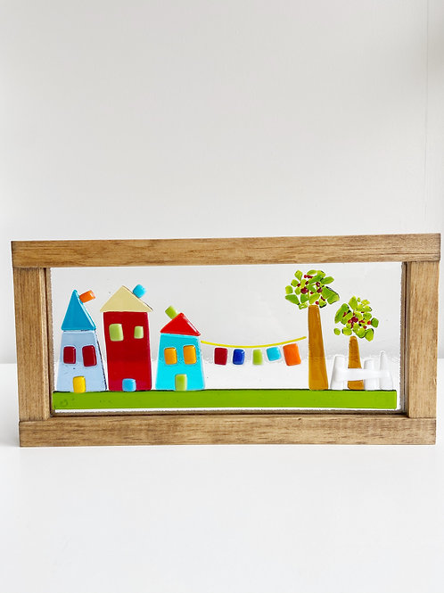 "Large Framed ""In the Neighbourhood"" Scene | Canoe Cove Studio"