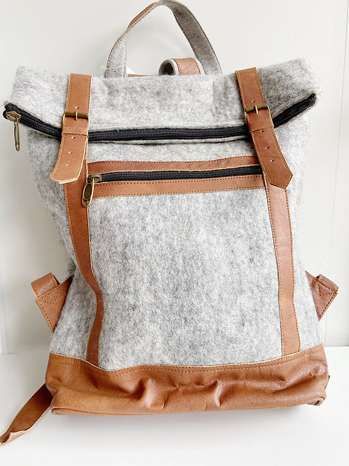 The Essential Backpack- Soft Grey | Fibres of Life