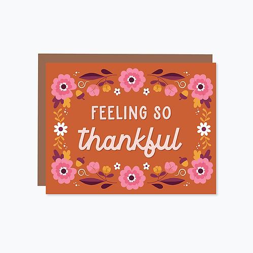 Feeling So Thankful Card | Halifax Paper Hearts