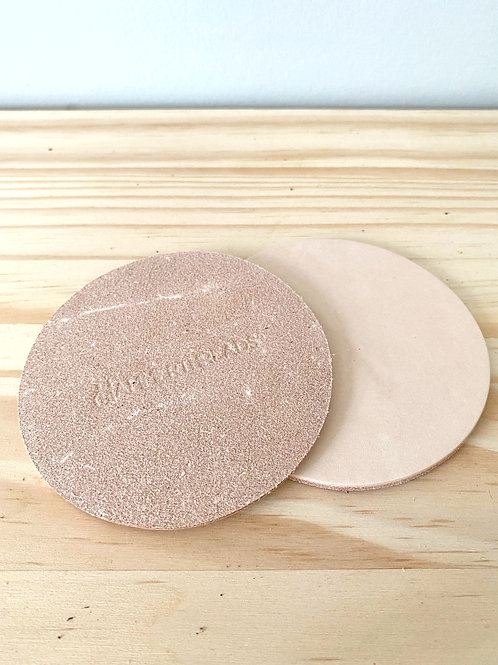 Natural Leather Coasters - Set of 2   Hammerthreads