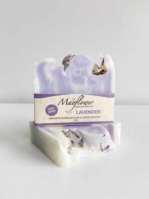 Lavender Soap   Maeflower + The Way Botanicals