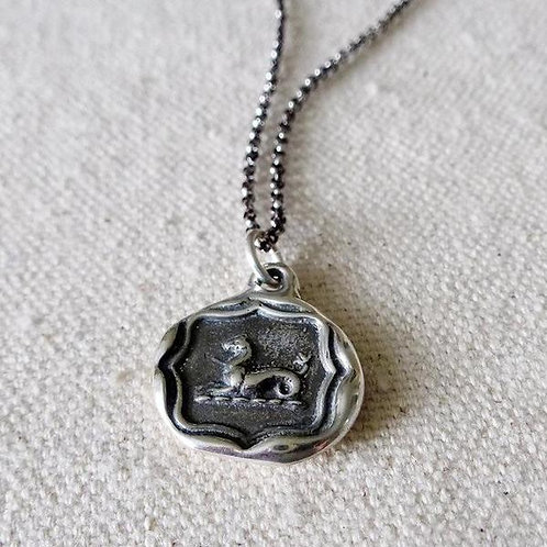 Seahorse Silver Pendant | Plum + Posey