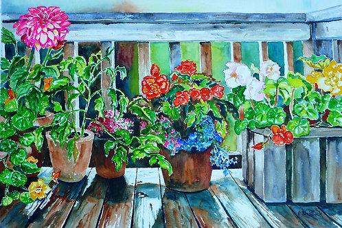 Deckmates- Original Painting | Pat Shattuck