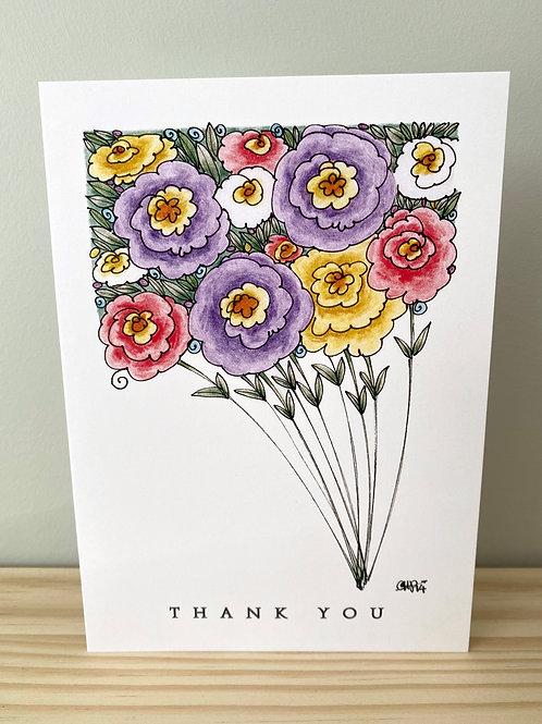 Thank You Bouquet Card | Helen Painter