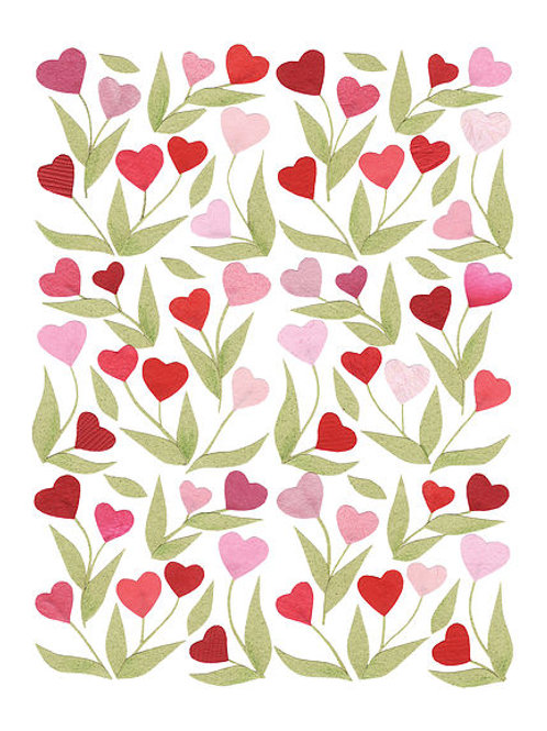 Heart Flowers Card | Cards by Kate