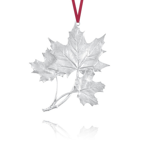 Maple Leaf 2004 Collector Ornament | Amos Pewter