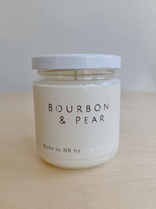 Bourbon + Pear Candle | A White Nest