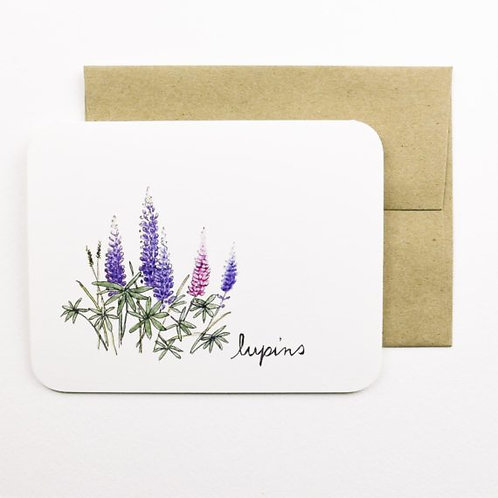 Lupins Card | Field Day Paper