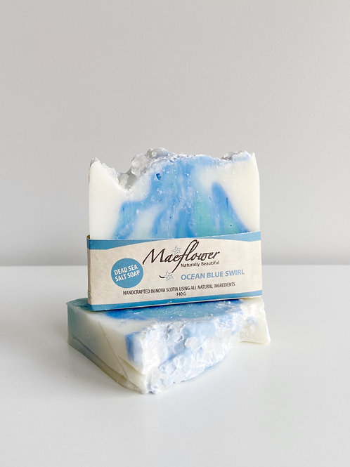 Ocean Blue Swirl Soap | Maeflower + The Way Botanicals