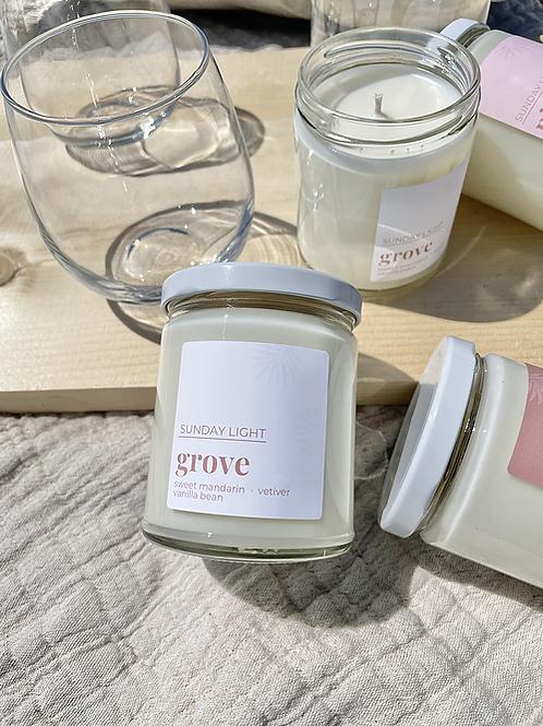Grove | sweet mandarin + vetiver + vanilla bean | Sunday Light Candle Co.