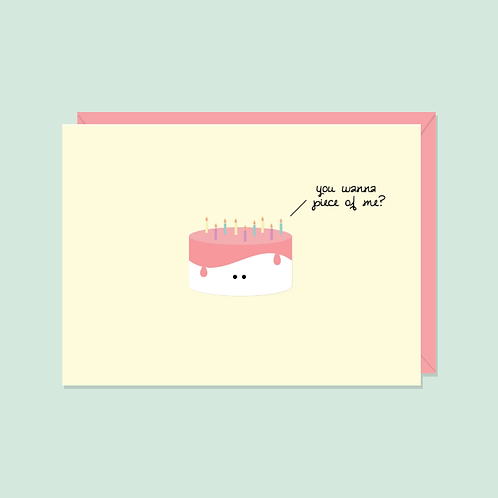 You Wanna Piece of Me? Card | Halifax Paper Hearts