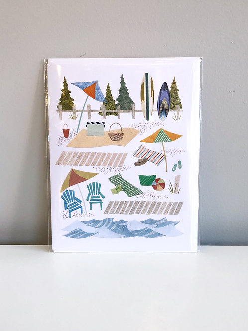 Day at the Beach Card | Cards by Kate