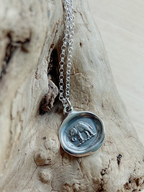 Elephant Silver Necklace | Good Luck | Plum + Posey
