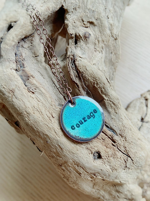 'Courage' Necklace in Turquoise   Aflame Creations