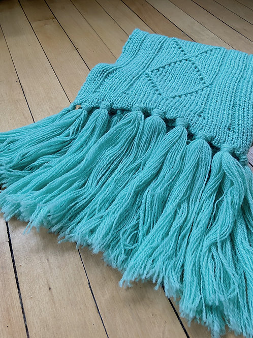 Traditional Pattern Scarf - Turquoise | NWK