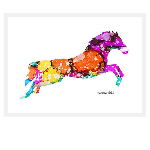 Leaping Horse Card | Hannah Hicks