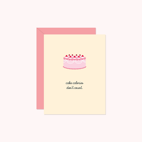 Cake Calories Don't Count Card | Halifax Paper Hearts