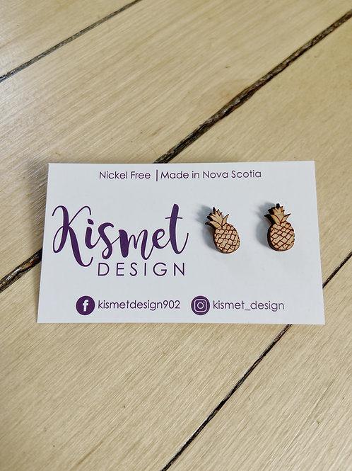 Pineapple Earrings | Kismet Design