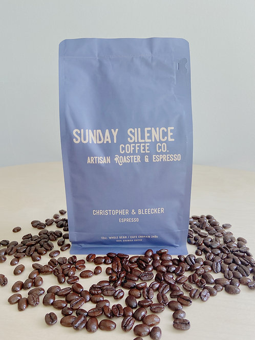 Christopher + Bleecker- Espresso Roast Coffee | Sunday Silence Coffee Co.