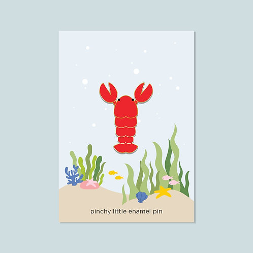 Pinchy Little Lobster Pin | Halifax Paper Hearts
