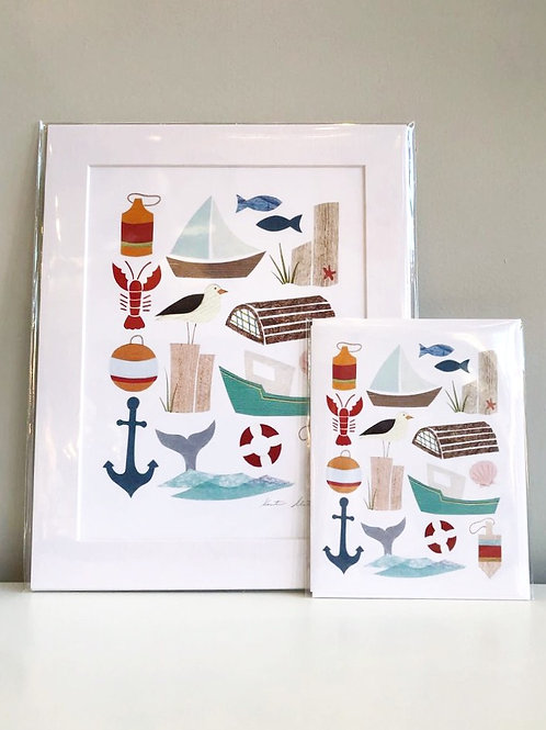 By the Sea | Cards by Kate