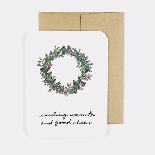 Warm Wreath Card   Field Day Paper