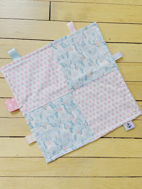 Baby Sensory Ribbon Mini Blanket   Unicorn   RoseBay Quilts